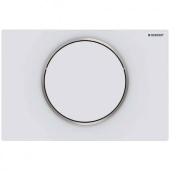 Geberit Sigma10 Single Flush Plate - Matt White