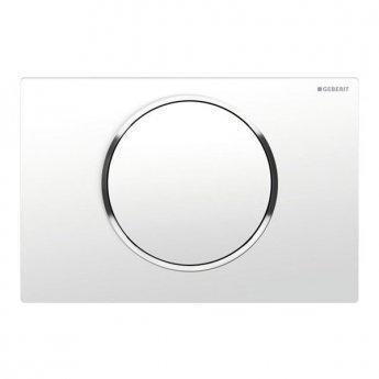 Geberit Sigma10 Single Flush Plate - White/Gloss Chrome