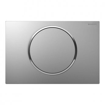 Geberit Sigma 10 Single Flush Plate, Matt Chrome