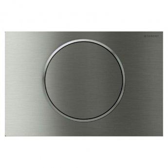 Geberit Sigma10 Anti Vandal Single Flush Plate - Stainless Steel Brushed