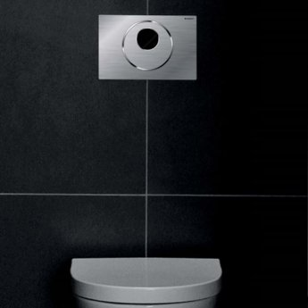 Geberit Sigma10 Touchless and Manual Dual Flush Plate for Cistern, Steel Brushed