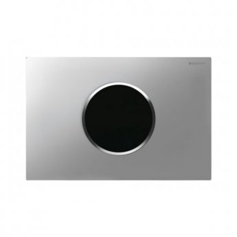 Geberit Sigma10 Mains Operated and Touchless Flush Plate for Cistern, Matt Chrome