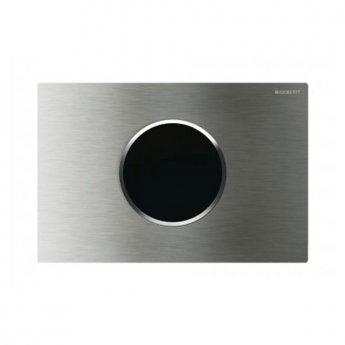 Geberit Sigma10 Mains Operated and Touchless Flush Plate for Cistern, Steel Brushed