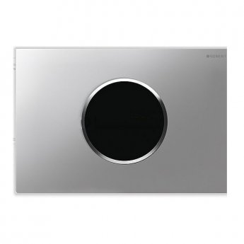 Geberit Sigma10 Battery Operated and Touchless Flush Plate for Cistern, Matt Chrome