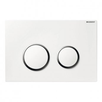 Geberit Sigma20 Dual Flush Plate, White/Gloss Chrome