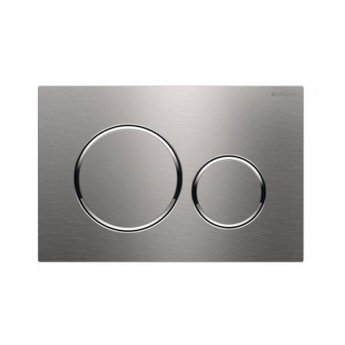 Geberit Sigma20 Dual Flush Plate, Brushed Stainless Steel