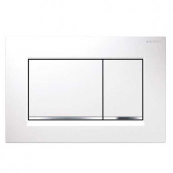Geberit Sigma30 Dual Flush Plate - White/Gloss Chrome