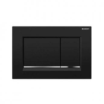 Geberit Sigma30 Dual Flush Plate - Polished Black/Chrome