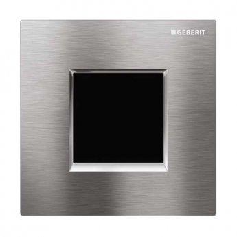 Geberit Sigma30 Urinal Flush Electronic Mains - Brushed Chrome