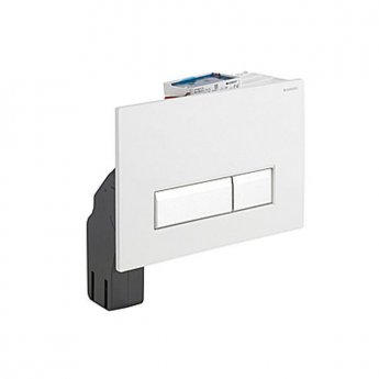 Geberit Sigma 40 Dual Flush Plate With Integrated Odour Extraction, White