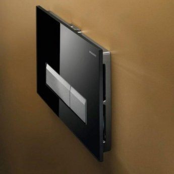 Geberit Sigma 40 Dual Flush Plate With Integrated Odour Extraction, Black