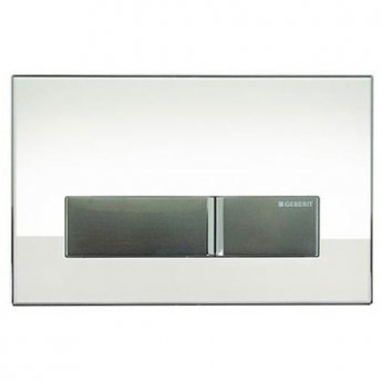 Geberit Sigma 40 Dual Flush Plate With Integrated Odour Extraction, White Glass