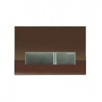 Geberit Sigma 40 Dual Flush Plate With Integrated Odour Extraction, Umber Glass
