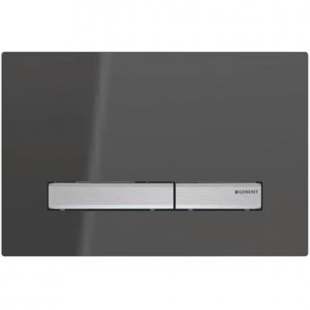 Geberit Sigma50 Dual Flush Plate - Smoke Glass