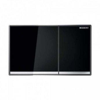 Geberit Sigma 60 Dual Flush Plate - Black Glass