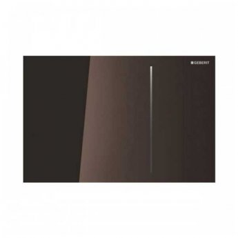 Geberit Sigma 70 Dual Flush Plate for 120mm Concealed Cistern - Umber Glass
