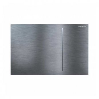 Geberit Sigma 70 Dual Flush Plate for 80mm Concealed Cistern - Brushed Stainless Steel