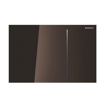 Geberit Sigma70 Dual Flush Plate for Cistern 80mm - Umber Glass