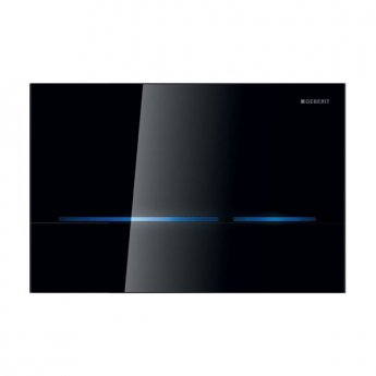 Geberit Sigma80 Touchless Sensor-controlled Operation Flush Plate - Black Glass