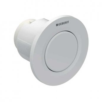 Geberit Type 01 Single Flush Plate Button for 120mm and 150mm Concealed Cistern - Alpine White