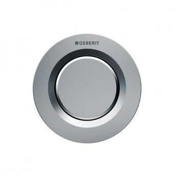 Geberit Type 01 Single Flush Plate Button for 120mm and 150mm Concealed Cistern - Matt Chrome
