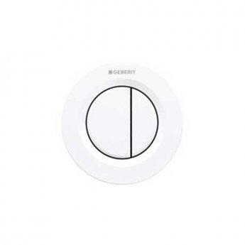 Geberit Type 01 Dual Flush Plate Button for 120mm and 150mm Concealed Cistern - Alpine White