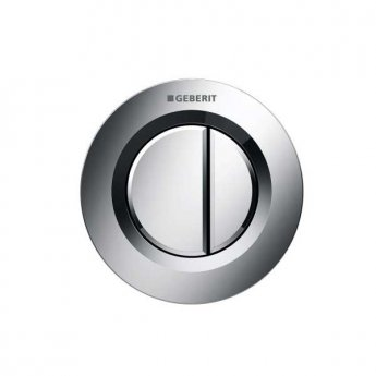 Geberit Type 01 Dual Flush Plate Button for 80mm Concealed Cistern - Gloss Chrome