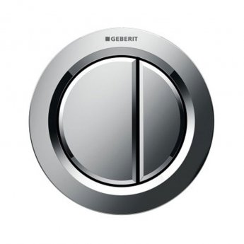 Geberit Type 01 Pneumatic Dual Flush Plate Button for Concealed Cistern - Gloss Chrome