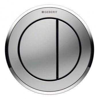 Geberit Type 10 Pneumatic Dual Flush Plate Button for 120mm and 150mm Cistern - Gloss/Matt Chrome