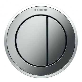Geberit Type 10 Pneumatic Dual Flush Plate Button for 80mm Concealed Cistern - Matt / Gloss Chrome