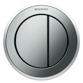 Geberit Type 10 Pneumatic Dual Flush Plate Button for Concealed Cistern - Matt / Gloss Chrome