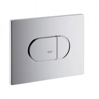 Grohe Arena Dual Button Flush Plate, Horizontal, Chrome