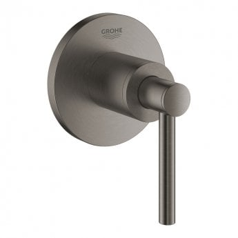 Grohe Atrio Concealed Stop Valve Trim with Lever Handles - Brushed Hard Graphite