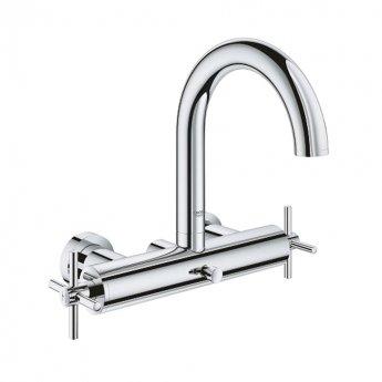 Grohe Atrio Bath Shower Mixer Tap with Cross Handles - Chrome