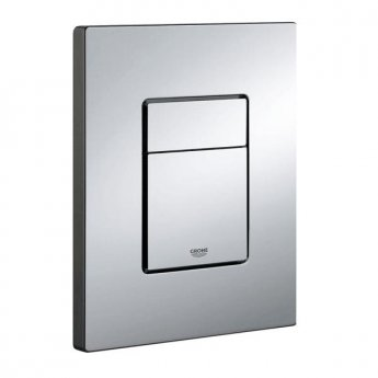 Grohe Cosmo Dual Button Flush Plate, Chrome