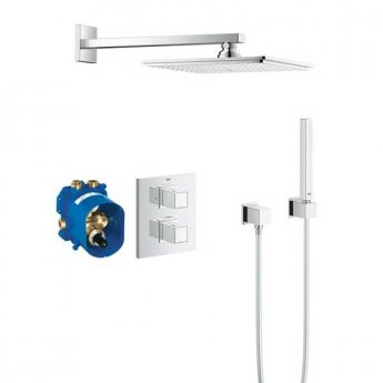 Grohe Grohtherm Cube Dual Concealed Mixer Shower with Shower Kit + Fixed Head