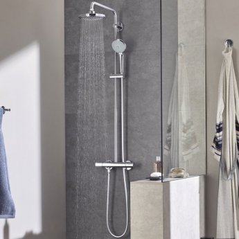Grohe Euphoria Thermostatic 180 Bar Mixer Shower with Shower Kit + Fixed Head