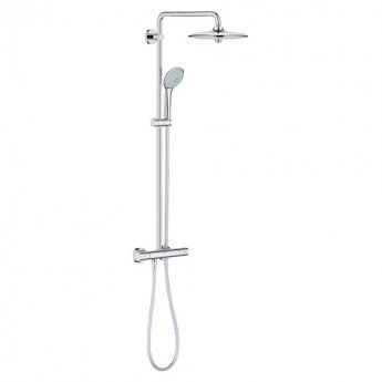 Grohe Euphoria Thermostatic 260 Bar Mixer Shower with Shower Kit + Fixed Head