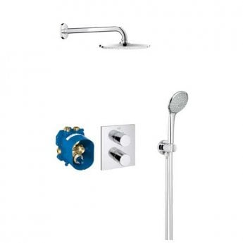 Grohe Grohtherm 3000 Cosmopolitan Dual Concealed Mixer Shower with 160 Shower Kit + Fixed Head