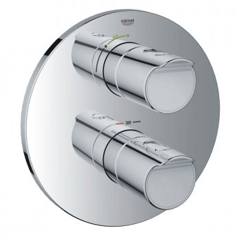 Grohe Grohtherm 2000 New Concealed Shower Valve Trim Dual Handle - Chrome