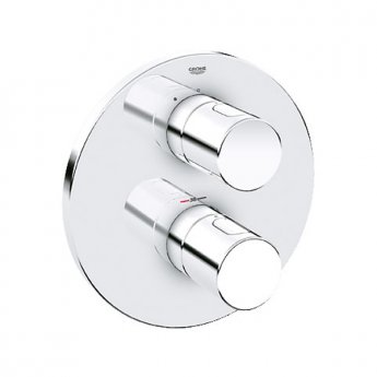 Grohe Grohtherm 3000 Cosmo Concealed Shower Valve Trim Dual Handle - Chrome