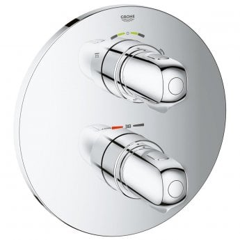 Grohe Grohtherm 1000 Concealed Thermostatic Shower Mixer Trim with Diverter - Chrome