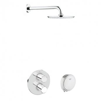 Grohe Grohtherm 3000 Cosmopolitan Bath/Shower Solution Pack 2 - Chrome