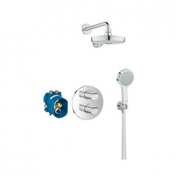 Grohe Grohtherm 2000 Dual Concealed Mixer Shower with Shower Kit + Fixed Head