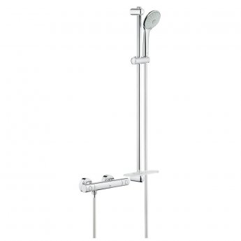 Grohe Grohtherm 1000 Cosmopolitan M Bar Mixer Shower with Shower Kit - Chrome