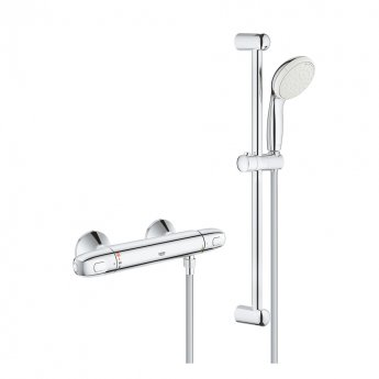Grohe Grohtherm 1000 New Thermostatic Shower Mixer and Kit, Chrome