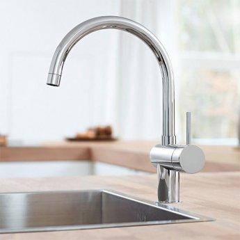 Grohe Minta Mono Kitchen Sink Mixer Tap C-Spout - Chrome