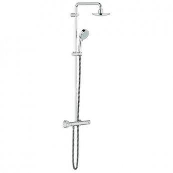 Grohe New Tempesta Cosmopolitan 160 Thermostatic Bar Shower Rigid Riser Kit - Chrome