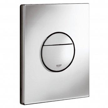 Grohe Nova Dual Button Flush Plate, Chrome