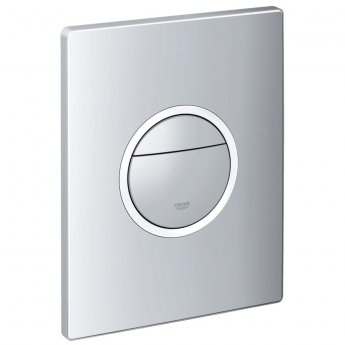 Grohe Nova Cosmopolitan Light Dual Flush Plate Wall Mounted - Chrome